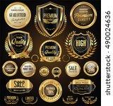 golden sale shields laurel... | Shutterstock .eps vector #490024636
