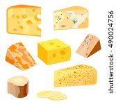 cheese types. modern flat style ...