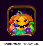 halloween game icon.pumpkin and ...