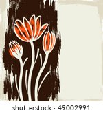 floral grunge background | Shutterstock .eps vector #49002991