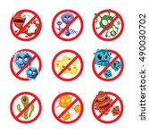 anti bacteria and germs vector... | Shutterstock .eps vector #490030702