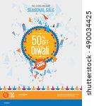 diwali festival offer poster...   Shutterstock .eps vector #490034425