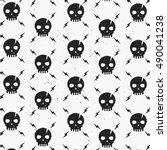 vintage skulls pattern.... | Shutterstock .eps vector #490041238