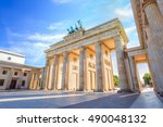 berlin brandenburg gate ... | Shutterstock . vector #490048132
