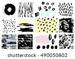 vector ink set. collection of... | Shutterstock .eps vector #490050802