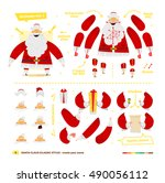 vector illustration santa claus ... | Shutterstock .eps vector #490056112