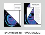 abstract vector layout... | Shutterstock .eps vector #490060222