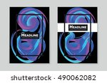 abstract vector layout... | Shutterstock .eps vector #490062082