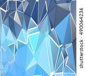 randomly scattered triangles of ... | Shutterstock .eps vector #490064236