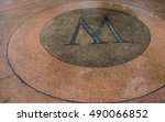 Small photo of Capital letter M. Overlapping with shadows logo, monogram trendy design.