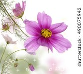 wild beautiful flowers | Shutterstock . vector #490075942