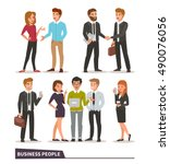 business characters collection. ... | Shutterstock .eps vector #490076056