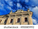 part of the facade of a... | Shutterstock . vector #490085992