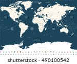vector high detailed world... | Shutterstock .eps vector #490100542