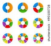 circular diagram set. pie chart ... | Shutterstock .eps vector #490100728