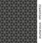 seamless geometric line pattern ... | Shutterstock .eps vector #490104922