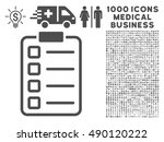 gray examination icon with 1000 ... | Shutterstock . vector #490120222