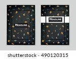 abstract vector layout... | Shutterstock .eps vector #490120315