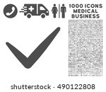 gray valid icon with 1000...