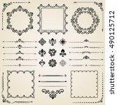 vintage set of elements.... | Shutterstock . vector #490125712