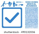 checkbox icon with 1000 medical ...