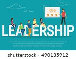 project leadership concept... | Shutterstock .eps vector #490135912