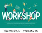 workshop concept illustration... | Shutterstock .eps vector #490135945