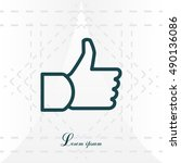 thumb up icon  vector... | Shutterstock .eps vector #490136086