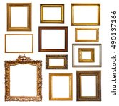 set of  picture  frames.... | Shutterstock . vector #490137166