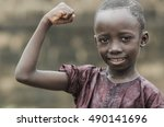 strong and proud little african ... | Shutterstock . vector #490141696