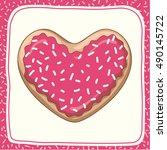 donut heart | Shutterstock .eps vector #490145722