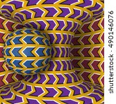 optical motion illusion...   Shutterstock .eps vector #490146076