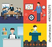 vector collection of flat and... | Shutterstock .eps vector #490150375