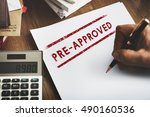 pre approved choice mark... | Shutterstock . vector #490160536
