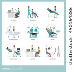 doctors and healthcare... | Shutterstock .eps vector #490164388