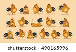 set vector stock illustrations... | Shutterstock .eps vector #490165996