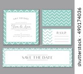 vector template for wedding... | Shutterstock .eps vector #490174036