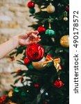beautiful female hands holding...   Shutterstock . vector #490178572