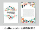 abstract vector layout... | Shutterstock .eps vector #490187302