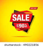 sale label design | Shutterstock .eps vector #490221856