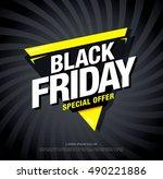 black friday sale banner | Shutterstock .eps vector #490221886