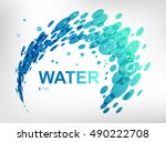 sign water spray   Shutterstock .eps vector #490222708