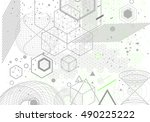sacred geometry symbols and... | Shutterstock .eps vector #490225222
