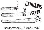 joint or spliff. drug...   Shutterstock .eps vector #490232932