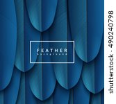 Blue Feather Background....