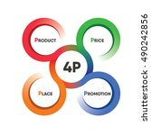 circle colorful four p product... | Shutterstock .eps vector #490242856