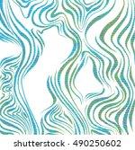 abstract zebra skin pattern ... | Shutterstock . vector #490250602