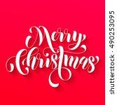 merry christmas modern... | Shutterstock .eps vector #490253095