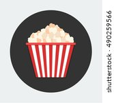 flat vector icon   illustration ... | Shutterstock .eps vector #490259566