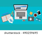 office table  | Shutterstock .eps vector #490259695
